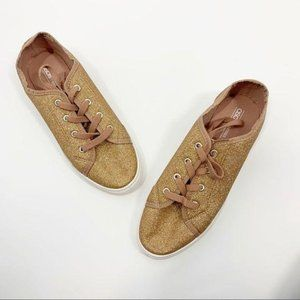 ASOS Rose Gold Tennis Shoes Size 8 Preppy Sneakers